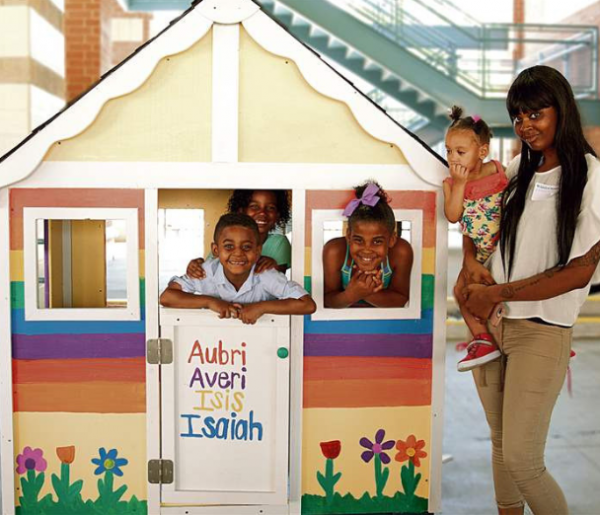 HFH Playhouse with Kids 2
