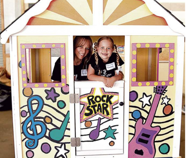HFH Playhouse with Kids