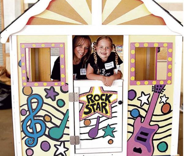 HFH Playhouse with Kids